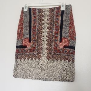 Lucky brand it line above the knee skirt floral